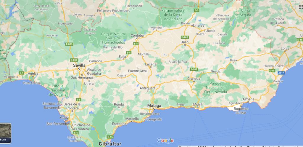 ¿Dónde queda la ciudad de Andalucía