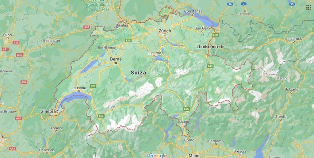 ¿Dónde se encuentra Suiza