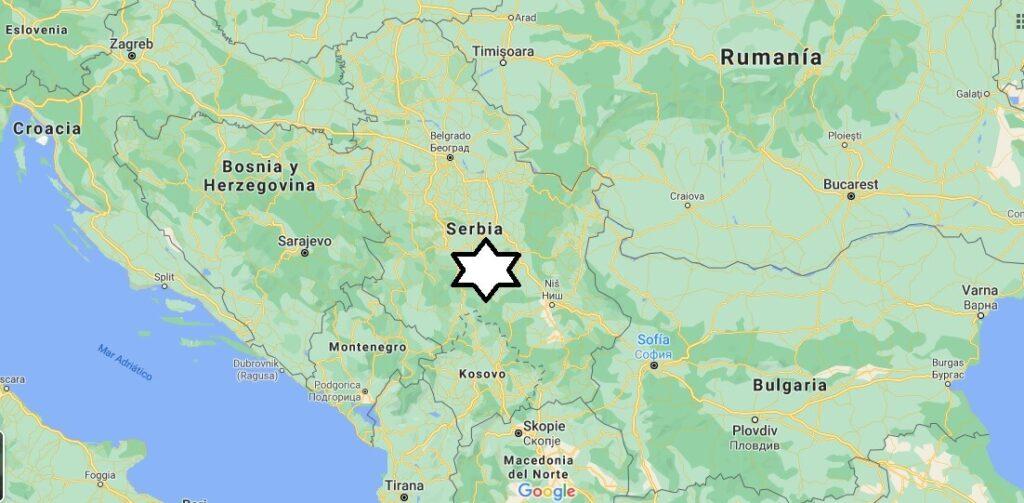 ¿Dónde se encuentra el país de Serbia