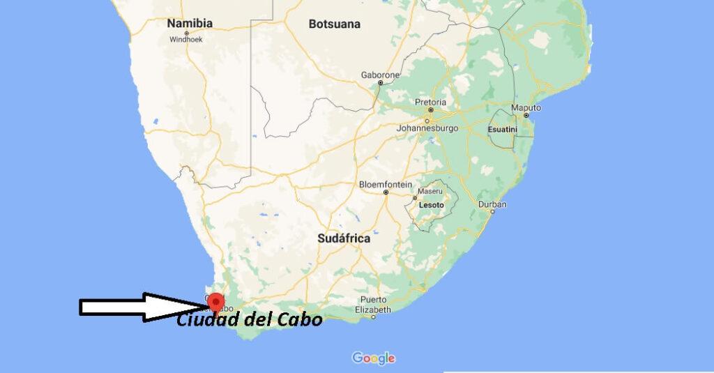 ¿Dónde se ubica la Ciudad del Cabo