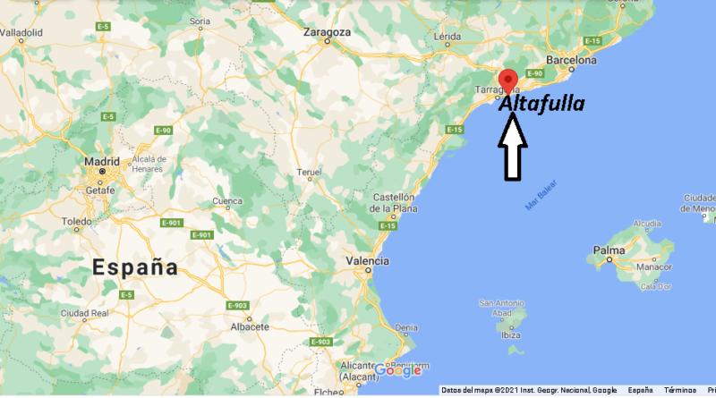 ¿Dónde está Altafulla