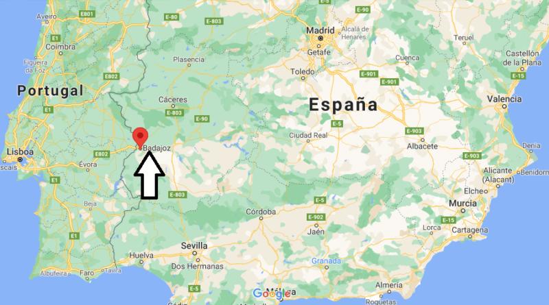¿Dónde está Badajoz