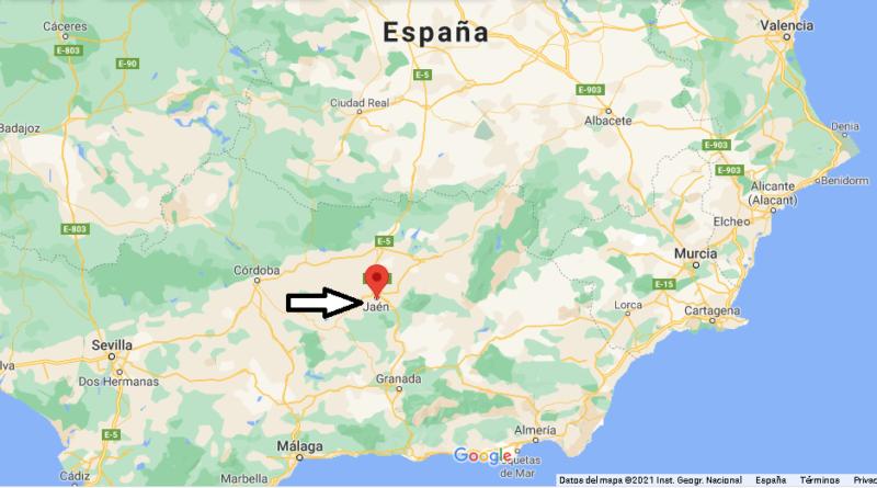 ¿Dónde está Jaén