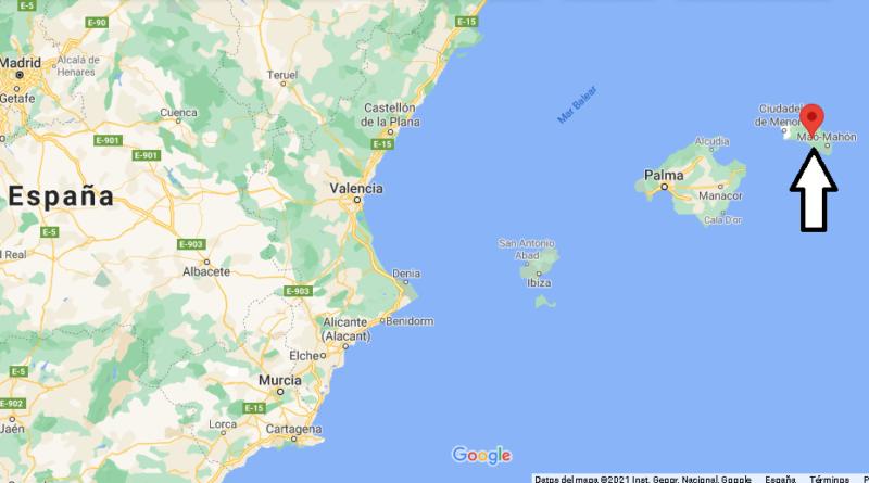 ¿Dónde está Menorca