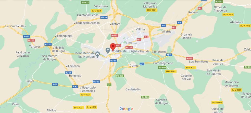 ¿Dónde está ubicada la ciudad de Burgos