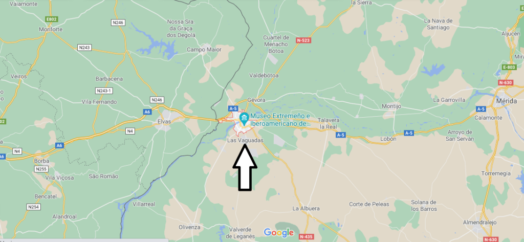 ¿Dónde se sitúa Badajoz