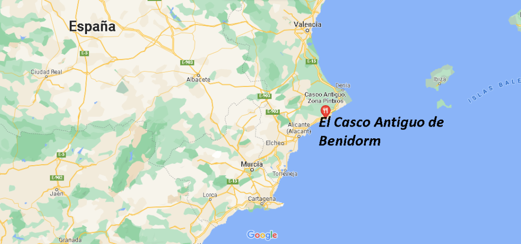 ¿Dónde está El Casco Antiguo de Benidorm