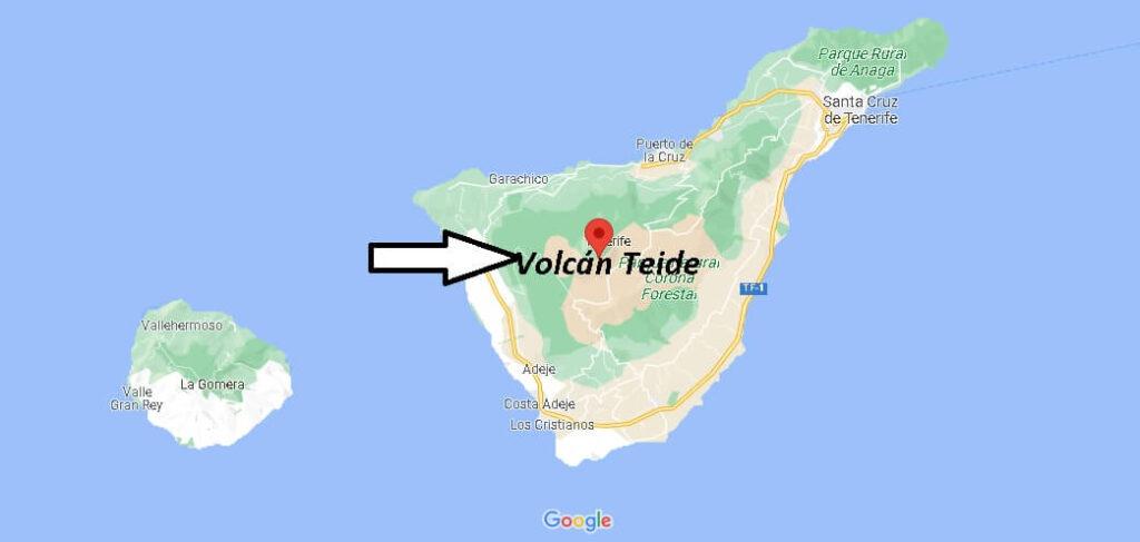 ¿Dónde está El Volcán Teide