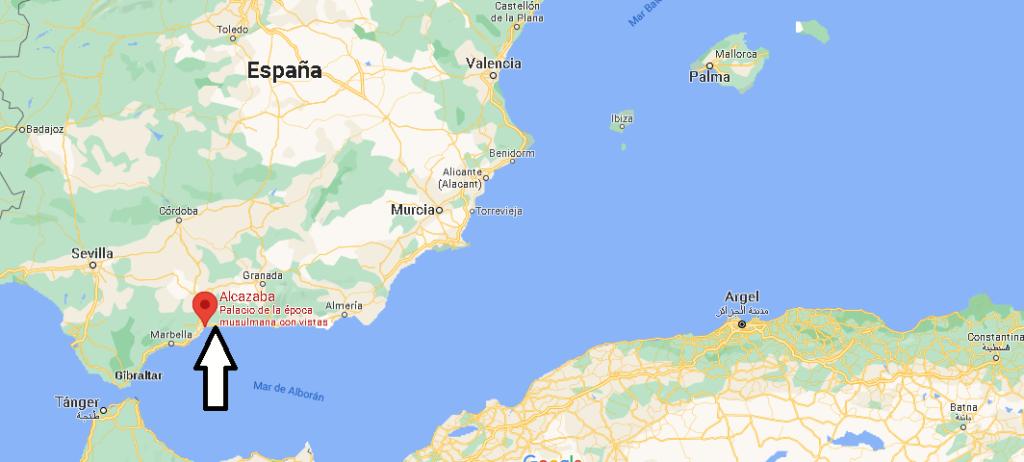 ¿Dónde está La Alcazaba en España