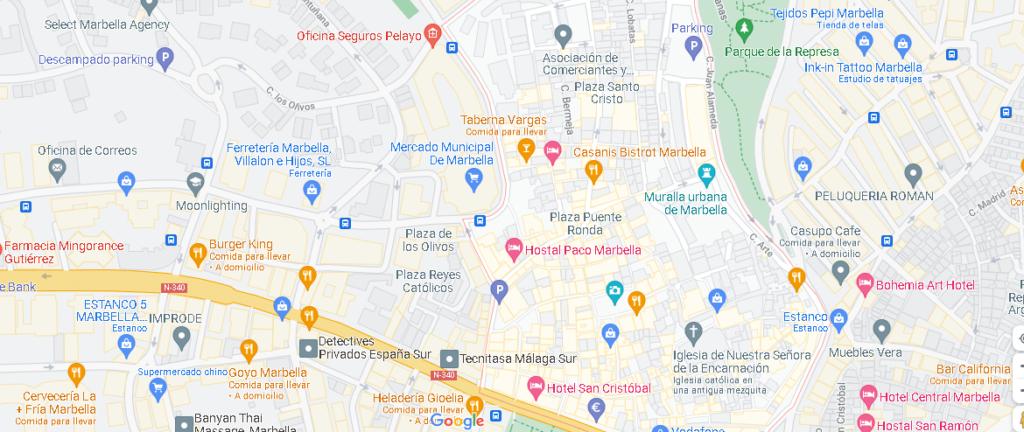 ¿Dónde está Marbella Old Town