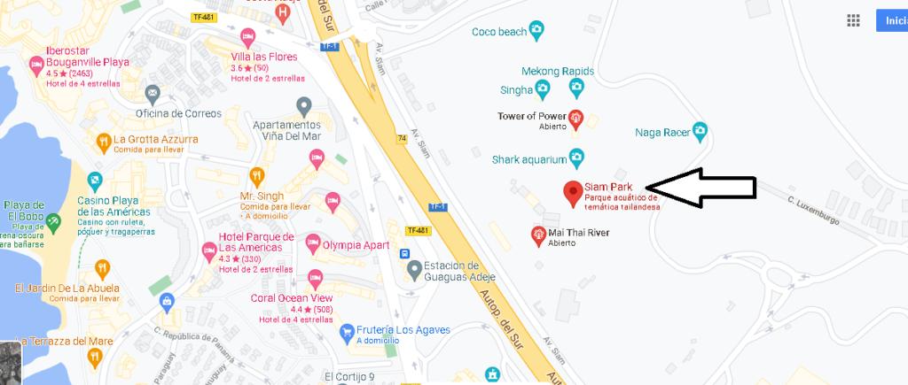 ¿Dónde está Siam Park Tenerife Norte o Sur