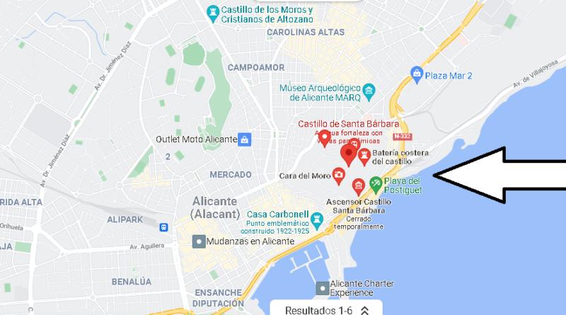 ¿Dónde está el Castillo de Santa Bárbara