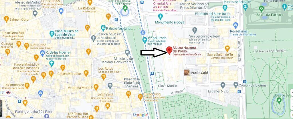 ¿Dónde está el Museo del Prado