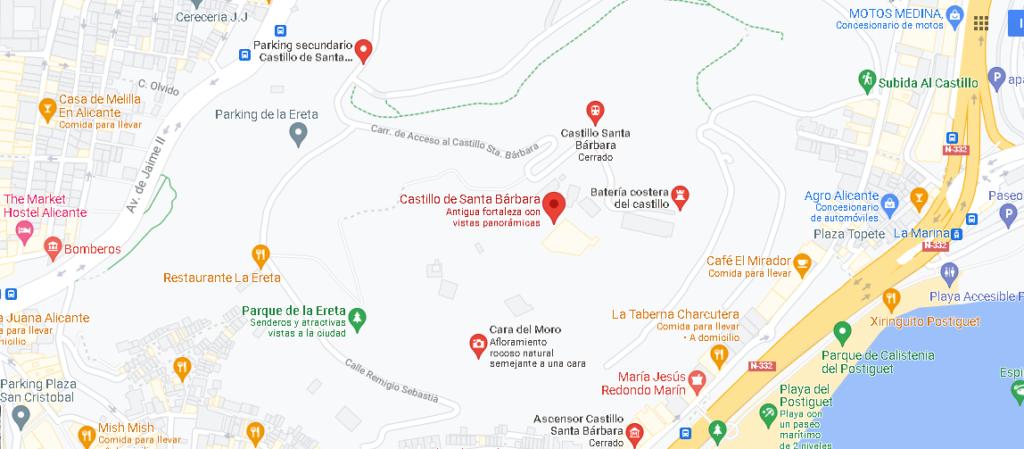¿Dónde se encuentra el Castillo de Santa Bárbara
