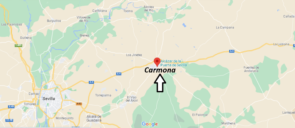 ¿Dónde se encuentra el pueblo de Carmona