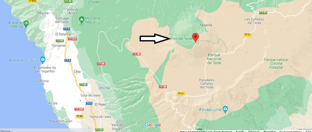 ¿Dónde se sitúa el Teide