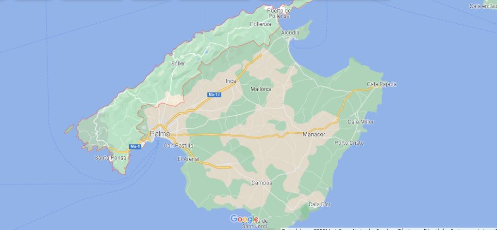 ¿Dónde se sitúa la Sierra de Tramontana