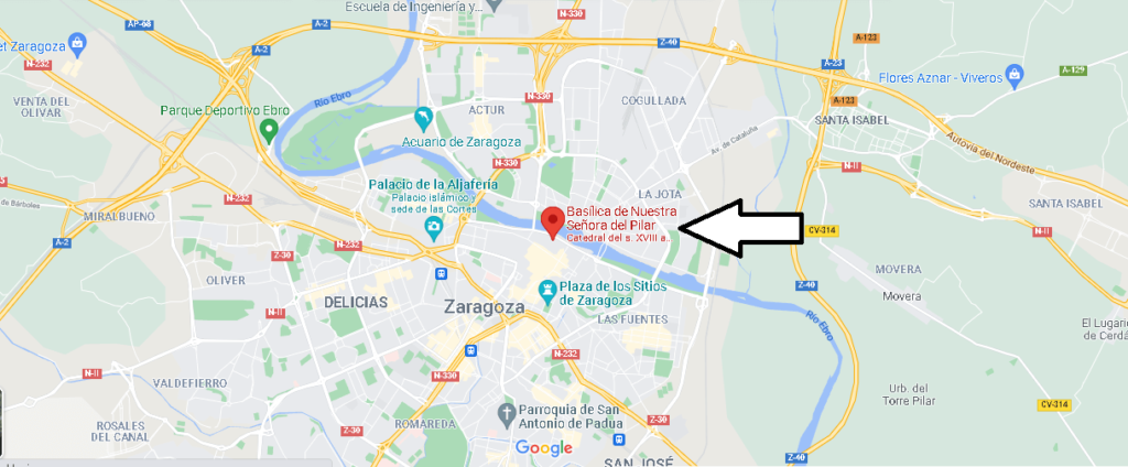 ¿Dónde está Basílica de Nuestra Señora del Pilar