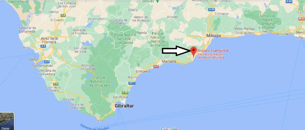 ¿Dónde está Bioparc Fuengirola