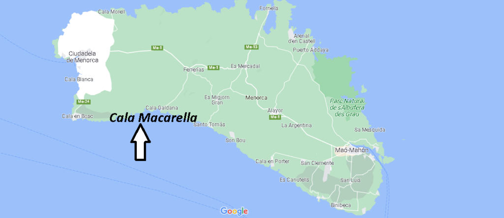 ¿Dónde está Cala Macarella