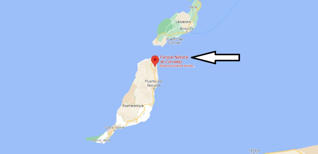 ¿Dónde está Parque Natural de Corralejo