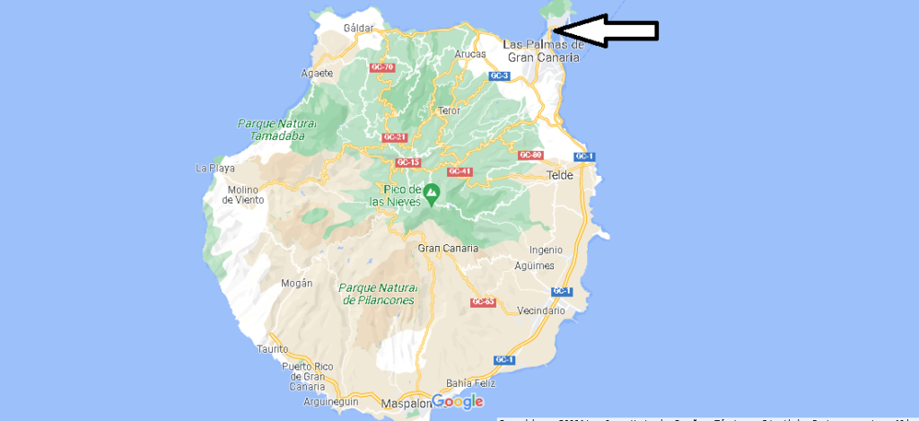 ¿Dónde está Playa de Las Canteras