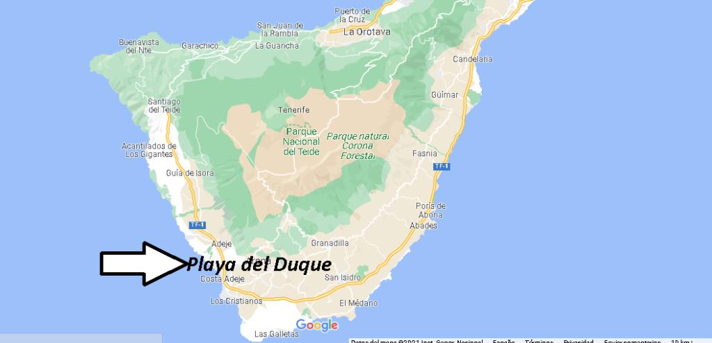 ¿Dónde está Playa del Duque