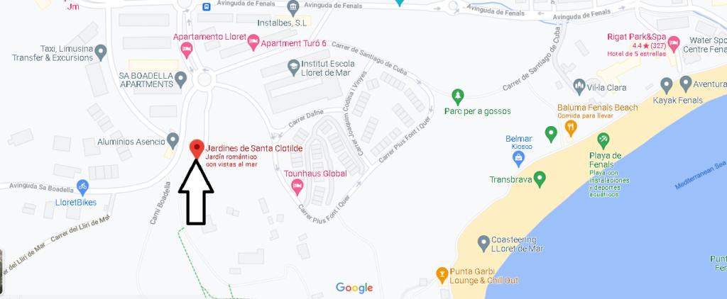 ¿Dónde queda Jardines de Santa Clotilde