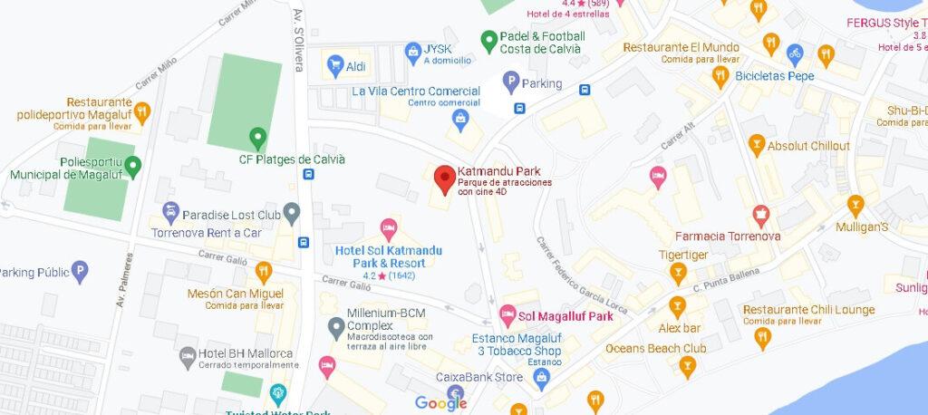Mapa Katmandu Park