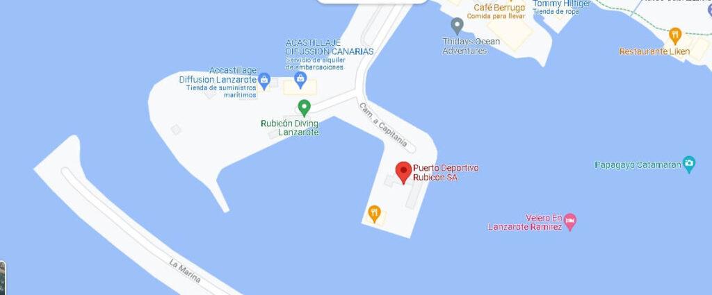 Mapa Marina Rubicon