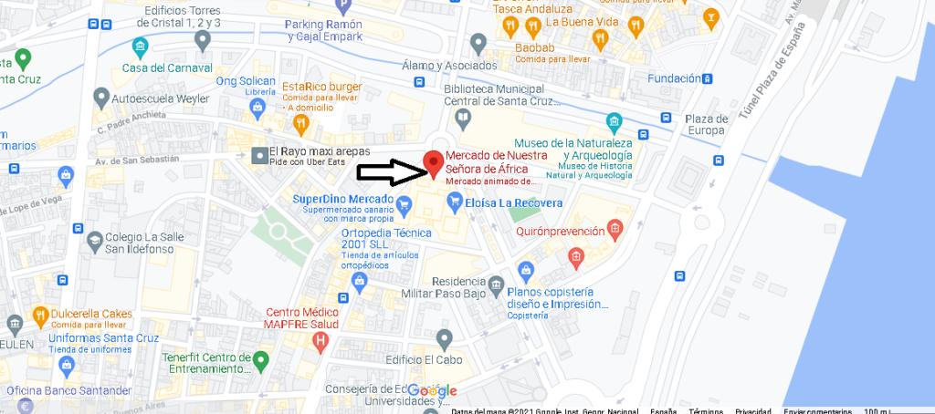 Mapa Mercado de Nuestra Señora de África