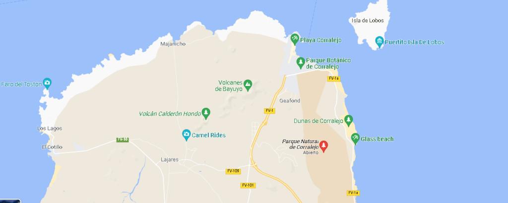 Mapa Parque Natural de Corralejo