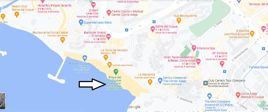 Mapa Playa del Duque