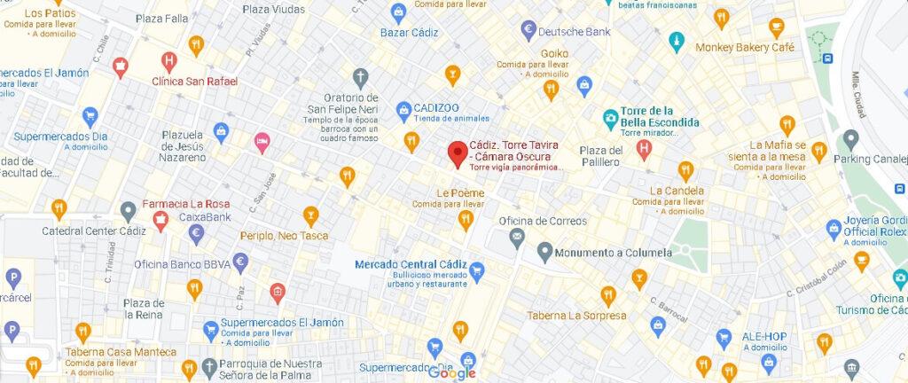 Mapa Torre Tavira