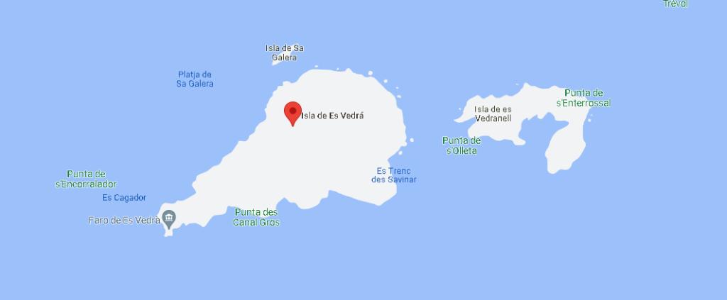 Mapa es Vedrá