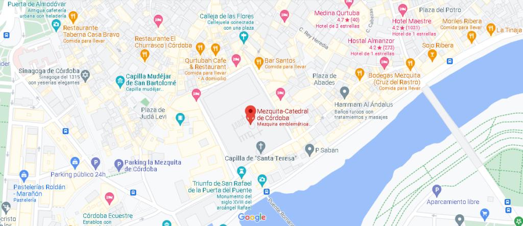 Mapa la mezquita de Córdoba
